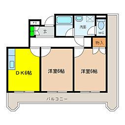 JSC泉大津[2階]の間取り