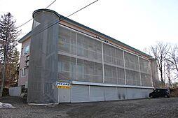 北海道北見市三楽町の賃貸アパートの外観
