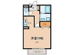 碧ハイツA・B[1階]の間取り