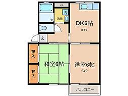 マノワ−ル鳰[2階]の間取り