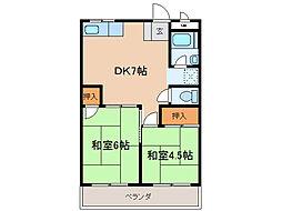 瀬田サンプラザマンション[4階]の間取り