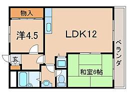 アベール大江[4階]の間取り