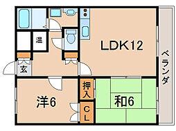 アビタシオン・コンフォール[1階]の間取り
