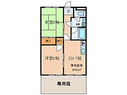 Msマンション[1階]の間取り