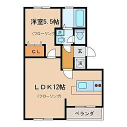 東晃マンション[2階]の間取り