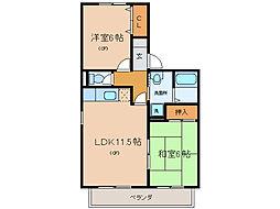 リアルコンフォートII[2階]の間取り