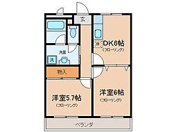 第5サンライフ瀬田[3階]の間取り