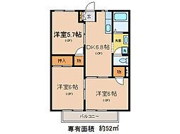 グランドハウスJY[1階]の間取り