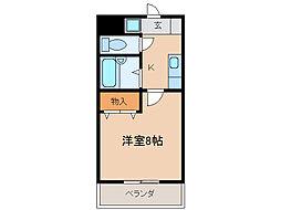 パレ南笠佐わらび[5階]の間取り
