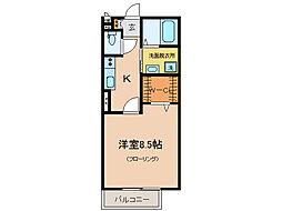 モナリエ大江[2階]の間取り