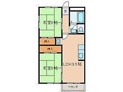 メゾンKONDO[2階]の間取り
