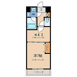 エンゼルプラザEastII[4階]の間取り