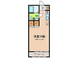 ボヌール陽健[1階]の間取り