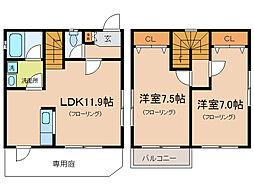 [一戸建] 滋賀県大津市富士見台 の賃貸【/】の間取り