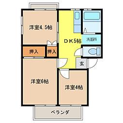 サンパール花戸[2階]の間取り