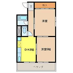 杉本ビル[3階]の間取り