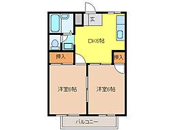 ファミール富士[2階]の間取り