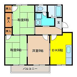 エクセル141[2階]の間取り