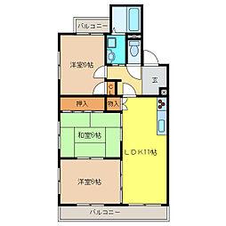 ロワイヤルA[3階]の間取り