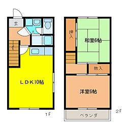 犬堀アパート 中東棟[1階]の間取り
