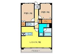 サンシャイン本郷 A棟[2階]の間取り