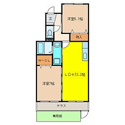 ファミーユ飛高[1階]の間取り