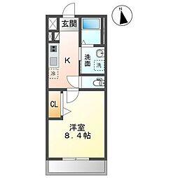 JR内房線 長浦駅 バス13分 笠上橋下車 徒歩5分の賃貸アパート 2階1Kの間取り