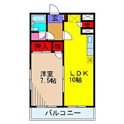 コーセーレヂデンス[3階]の間取り