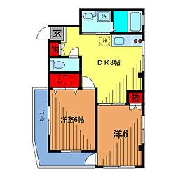 サンハイツコクボ[1階]の間取り