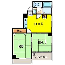 アライマンションII[3階]の間取り