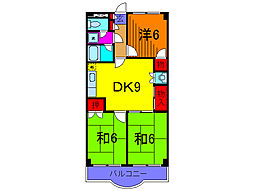 東京都足立区大谷田5丁目の賃貸マンションの間取り