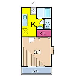 KIフラット[1階]の間取り