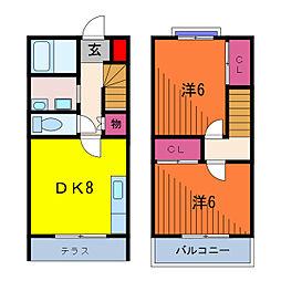 [テラスハウス] 東京都葛飾区東水元4丁目 の賃貸【東京都 / 葛飾区】の間取り