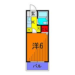 ビレッヂフジ[2階]の間取り