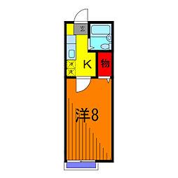 ビレッヂフジ2[2階]の間取り