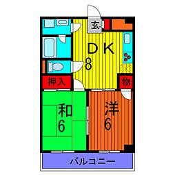 東京都葛飾区東金町6丁目の賃貸マンションの間取り