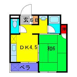 東京都葛飾区東金町4丁目の賃貸マンションの間取り