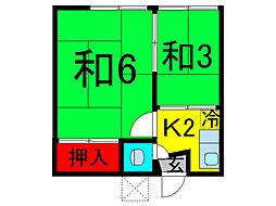 東京都葛飾区青戸8丁目の賃貸アパートの間取り