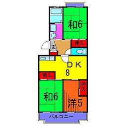 エクセルエステート吉田II[3階]の間取り