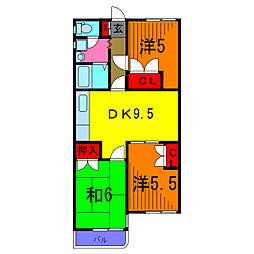 エクセルエステートヨシダ1[3階]の間取り