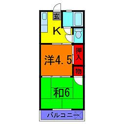 東京都足立区東綾瀬3丁目の賃貸マンションの間取り