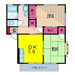 セントパークハイツ(大和リビング)[2階]の間取り