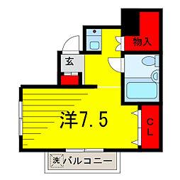 宮地コーポ[2階]の間取り