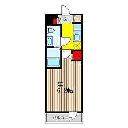 SHOKEN Residence亀有 5階ワンルームの間取り