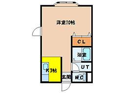 北海道函館市松川町の賃貸アパートの間取り