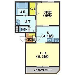 北海道函館市堀川町の賃貸マンションの間取り
