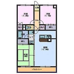 北海道函館市桔梗4丁目の賃貸アパートの間取り