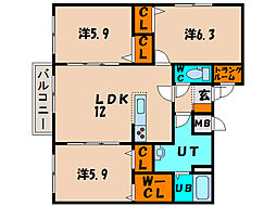 北海道函館市港町1丁目の賃貸マンションの間取り