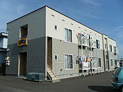 北海道函館市桔梗3丁目の賃貸アパートの外観
