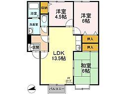北海道函館市富岡町2丁目の賃貸アパートの間取り